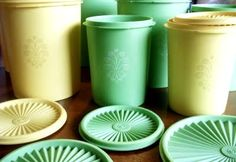 I still have & use some of the yellow tupperware!