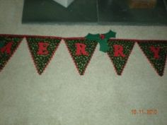 Sandra's Christmas banner, made after being inspired by Mandy Shaw's Christmas decorations. Christmas Banners, Christmas Decorations, Holiday Decor, Project Yourself, Show And Tell, Love Is All, Quilts, Inspired, Creative