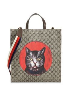 GUCCI Bestiary Printed Tote. #gucci #bags #shoulder bags #hand bags #canvas #leather #tote #