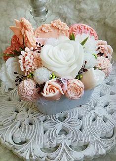 Výsledok vyhľadávania obrázkov pre dopyt mydlové kytice Soap, Flowers, Plants, Plant, Royal Icing Flowers, Bar Soap, Flower, Florals, Soaps