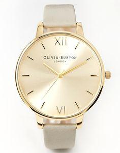 Image 1 ofOlivia Burton Big Dial Grey & Gold Watch