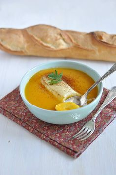 Quenelles nature velouté potiron by A taste of my life