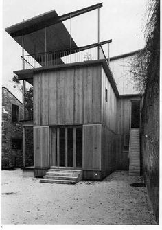herzog de meuron - hebelstrasse House In The Woods, My House, Wood Architecture, Building Exterior, Japanese House, Beautiful Buildings, Cladding, Outdoor Travel, Places