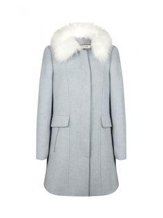 Naf naf nouvelle co h15 manteau col fourré avec fermetures zippées  1
