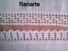 Resultado de imagem para biquinho de croche Filet Crochet, Crochet Doilies, Crochet Lace, Crochet Stitches, Crochet Border Patterns, Knitting Patterns, Chrochet, Baby Knitting, Sewing Crafts