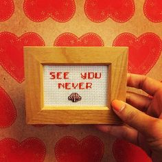 Cross stitch quote handmade https://www.instagram.com/classicstitchup37/