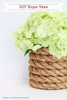 Make DIY Nautical Rope Vases as home or party décor, or as a homemade gift for a friend! This craft is simple but dramatic and can bring old vases back to life!