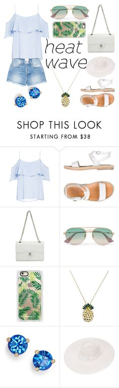 Summer Set #6 by sandstormthenerd on Polyvore featuring BB Dakota, Frame, n.d.c., Chanel, Anton Heunis, Kate Spade, Maison Michel, Gucci, Casetify and heatwave