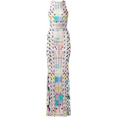 Peter Pilotto abstract print maxi dress (2,015 CAD) ❤ liked on Polyvore featuring dresses, maxi dresses, multi color dress, multicolor dress, pink dress, pleated dress and multi colored maxi dress