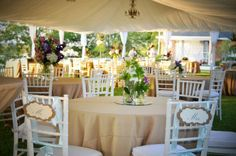 Weddings - White Tent Wedding Reception. JuLa Studio www.julastudio.com