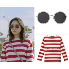 Gong Hyo Jin wore Gentle Monster sunglasses and Saint James Ouessant wide border T-shirts in Jealousy Incarnate drama episode 11 Photo credit to owner #gonghyojin#fashion#kdrama#gentlemonstersunglasses#saintjames#fashionstyle#kdramafashion#gonghyojinstyle#jealousyincarnate