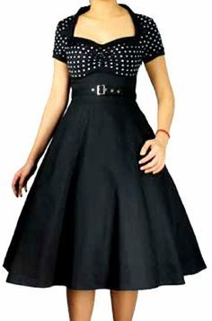 Pretty Kitty Fashion 50s Schwarz Weiß Polka Dot Retro Kleid Pretty Kitty, http://www.amazon.de/dp/B0086I5EDG/ref=cm_sw_r_pi_dp_Vflerb1T0BPGM