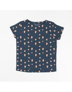 Atracktion by Albababy - Blauw Katrine T-shirt met roze dots