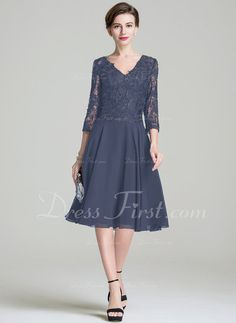 0374abb5d8c   178.99  A-Line Princess V-neck Knee-Length Chiffon Lace Mother of the  Bride Dress (008072689)
