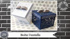 """Vidéo-Tuto """"Boîte Dentelle"""" par Coul'Heure Papier"""