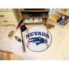 """Nevada Wolfpack Baseball Rug 29"""" diameter"""