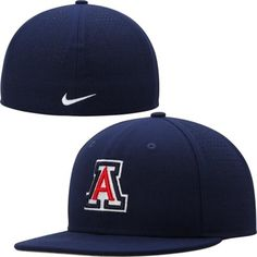 University of Arizona Wildcats Nike Dri-FIT Vapor True College Authentic Baseball Fitted Hat - Navy Blue
