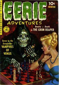 Eerie Adventures n°1, Winter 1951, cover by Allen Anderson.