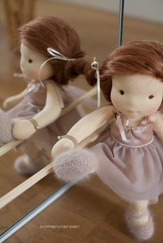 Ballerina - what a cute idea! And I love her face, nice shaping but still simple