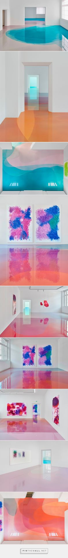 peter zimmermann floods freiburg museum with glossy pools of resin - created on Exhibition Display, Exhibition Space, Instalation Art, Museum, Diy Interior, Art Plastique, Art And Architecture, Sculpture Art, Just In Case