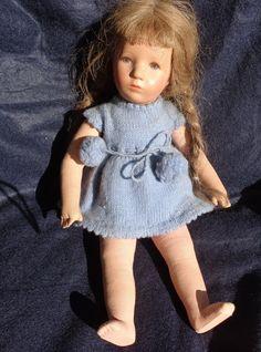 Alte Käthe Kruse Puppe aus Nachlass - Deutsches Mädchen - 35 cm groß | eBay