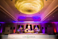 The Westin South Coast Plaza, Lin & Jirsa Photography, Orange County weddings, Indiand Weddings, wedding photography, indoor weddings, dinner reception, centerpieces, linens, uplighting, purple and gold, wedding decor, #thewestinscp #twscp #westinweddings #southcoastplaza #thewestin #linandjirsa