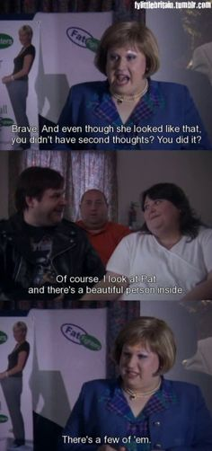 Little Britain is our favourite all-time sketch! Full of inappropriateness, offensive jokes, whacks. Little Britain, Beautiful Person, Jokes, Thoughts, Facts, Husky Jokes, Memes, Funny Pranks, Lifting Humor