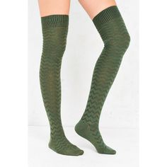 Out From Under Chevron Stitch Thigh High Sock ($4.99) ❤ liked on Polyvore featuring intimates, hosiery, socks, thigh high hosiery, chevron socks, wide socks, marled socks and thigh high socks