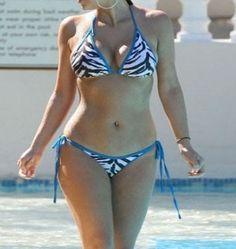 Kim Kardashian Zebra Bikini