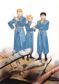 "Fullmetal Alchemist 鋼の錬金術師art by Hiromu Arakawa. This image was also used in the FMA novel ""The Ties that Bind"""