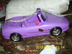 DOLL ACCESSORIES MATTEL BARBIE PURPLE/PINK SPORTS CAR   #Mattel