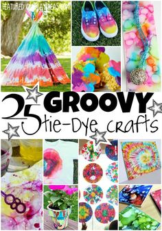 25 Groovy Tie Dye Crafts for Kids – Crafts – atcraft Crafts For Teens, Crafts To Do, Kids Crafts, Arts And Crafts, Teen Summer Crafts, Teen Girl Crafts, Spring Crafts, Easy Crafts, Ty Dye