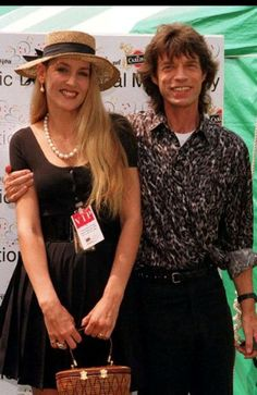 Musician and model couples Mick Jagger and Jerry Hall
