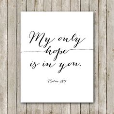 Mon seul espoir