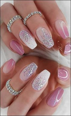 Hottest Awesome Summer Nail Design Ideas for 2019 Part summer nail colours; summer nails coffin The post Hottest Awesome Summer Nail Design Ideas for 2019 Part 19 appeared first on alss wp. Metallic Nails, Cute Acrylic Nails, Acrylic Nail Designs, Cute Nails, Glitter Nail Art, Glitter Nail Designs, New Nail Designs, Nails With Glitter Tips, White Sparkly Nails