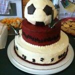 Soccer Cake - Go Hummingbirds