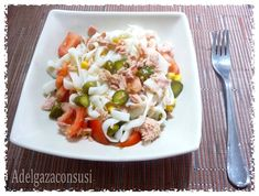 Adelgaza Con Susi - Recetas Light: Ensalada de Tallarimis de pescado Cocina Light, Recetas Light, Menu Dieta, Pasta Salad, Rice, Chicken, Ethnic Recipes, Food, Diabetes