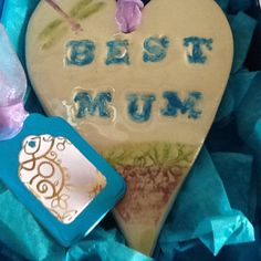 Mother's Day gift ceramic heart by Paintspotsandpaper on Etsy