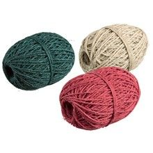 Fair Trade Garden Twine Pack - £4.50 The garden twine pack contains 3 natural twine balls in red, green and original colours.   These handcrafted Twine Packs are made by Prokritee who aim to create employment for disadvantaged rural women in Bangladesh by creating and selling unique fair trade products. #Fairtrade #LetItGrow