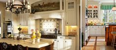 A kitchen with French accents