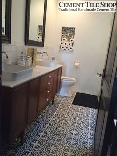 Love this picture of our in stock Bordeaux pattern from a client in Los Angeles. We especially love the wall niche! http://www.cementtileshop.com/pacific-collection-cement-tile/Bordeaux.html