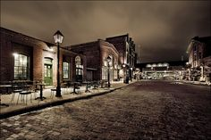 Distillery District @ night - one of my favourite spots in the city.  Courtesy of daily dose of imagery blog.