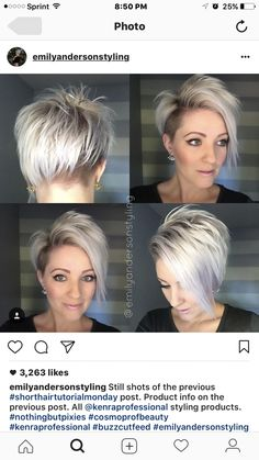This is my next hairstyle! Silver blonde pixie cut! I'm obsessed!