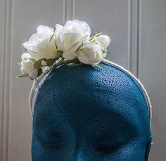 Flower Headband // Ivory flower Headband // Flower Crown // Bridesmaids Hair…