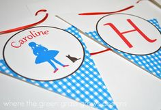 Wizard of Oz Banner Bunting by TheGreenGrassGrows on Etsy
