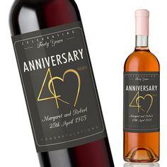 40th Wedding Anniversary Gift Custom by MiLabelStudios on Etsy