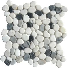 MS International 12 in. x 12 in. Black/White Pebbles Marble Mosaic Floor & Wall Tile-THDW1-SH-PEB at The Home Depot