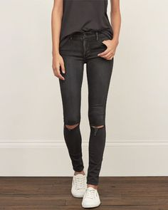 Womens Super Skinny Jeans destroyed black wash DOESNT MATTER WHAT BRAND, BUT THIS STYLE THO