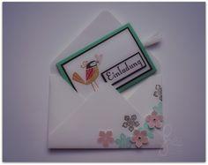 Slider card, Einladung zum Kindergeburtstag, Stampin' Up! mit passendem Umschlag, Envelope Punch Board, invitation card for children's birthday party;