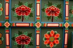 Ceiling painting Ceiling Painting, Ceiling Murals, Mural Ideas, Folk, Korean, Culture, Holiday Decor, Frame, Home Decor